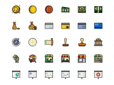 170 Retro Business icons for Sketch - Design Resources
