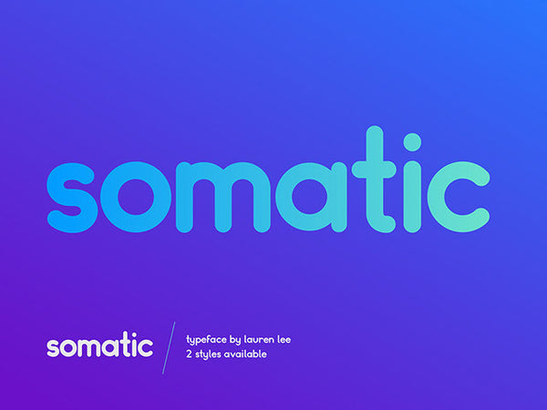 Somatic Rounded: A free font