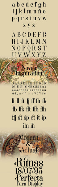Soria: A font inspired by Art Nouveau - Design Resources