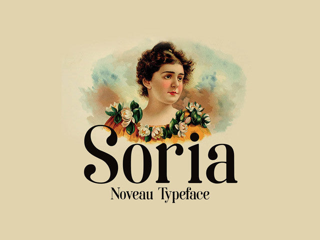 Soria: A free font inspired by Art Nouveau