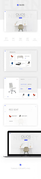 Olios: Ecommerce PSD template - Design Resources