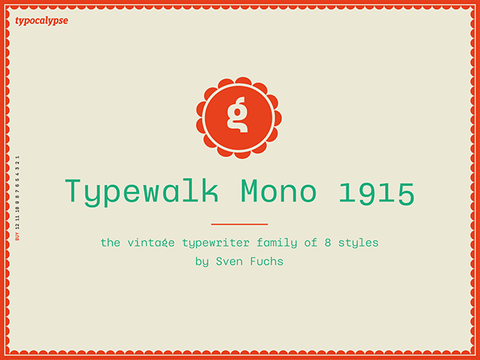 Typewalk Mono 1915: A vintage typewriter grotesque font - Design Resources