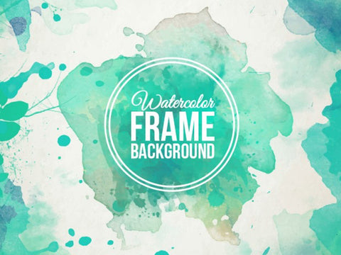 Watercolor frame background - Design Resources