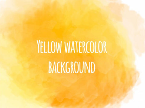 Yellow watercolor background - Design Resources