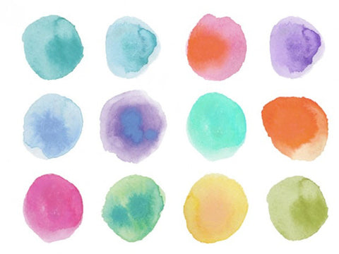 Watercolor dots - Design Resources