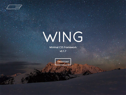 Wing: A lightweight and minimal CSS framework - Design Resources