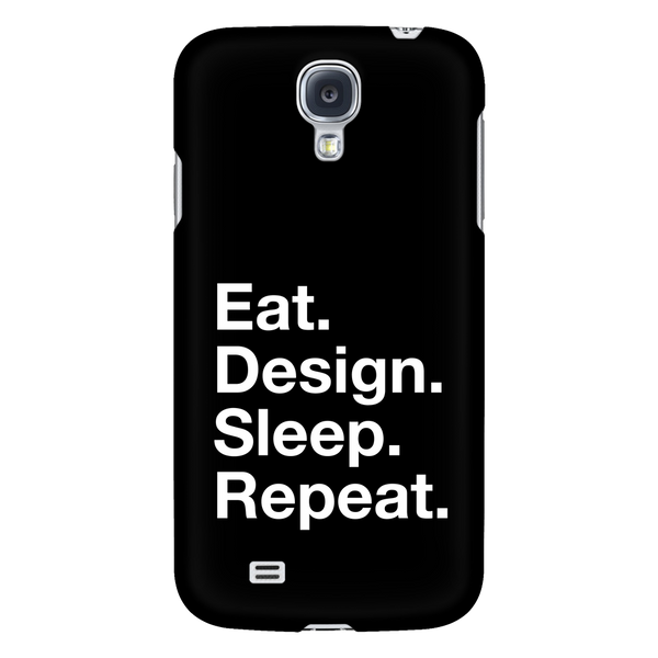 Eat design sleep repeat phone case