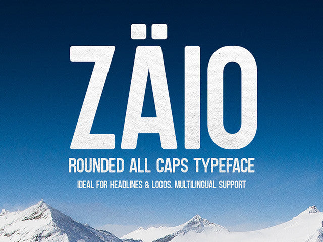 Zaio: A free all caps rounded font