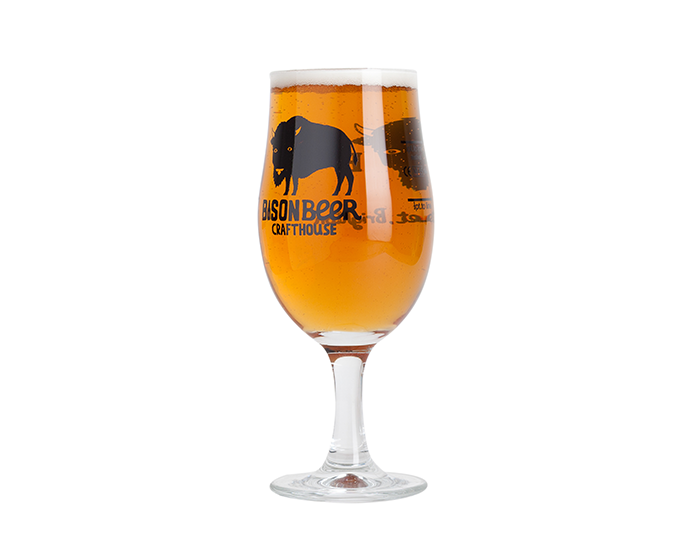 Bison Beer Tulip Glass