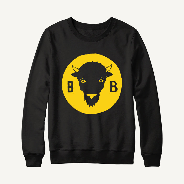Bison Beer Head Logo Sweatshirt