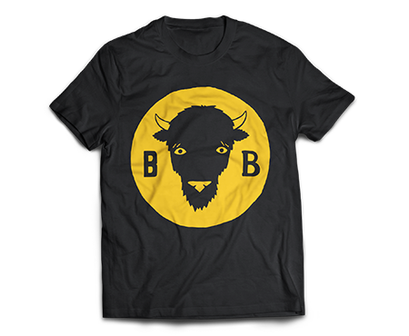 Bison Beer Head Logo T-Shirt