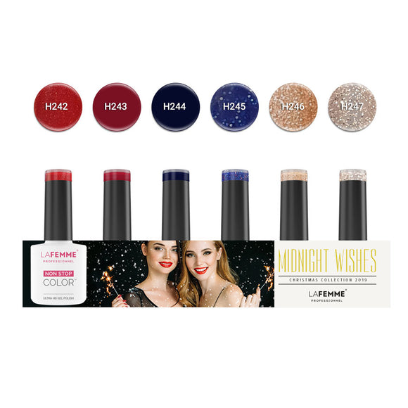 Set Colección Midnight Wishes La Femme Non Stop Color 5+1