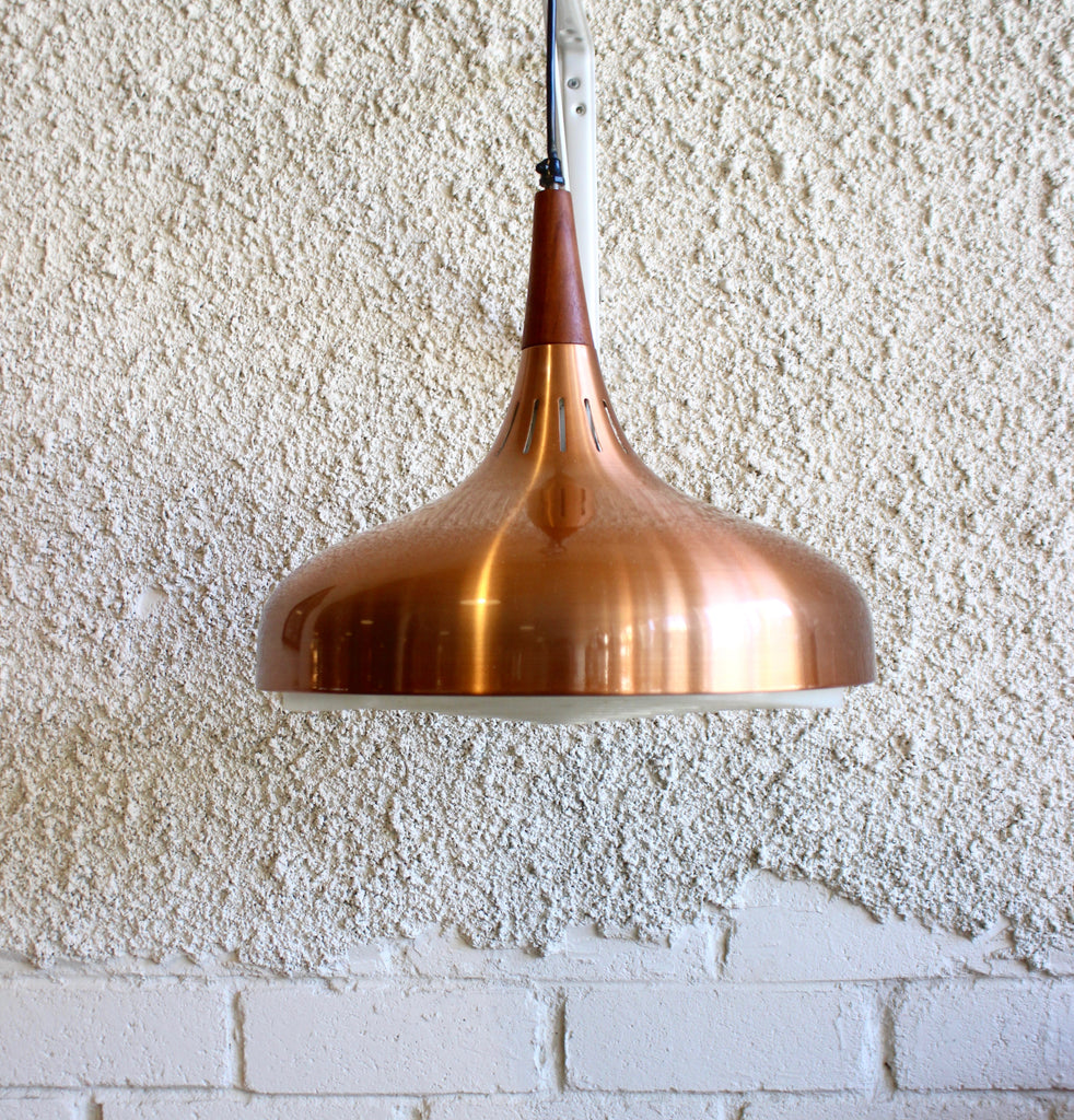Jo Hammerborg Pendant in Copper & Teak (1803921)