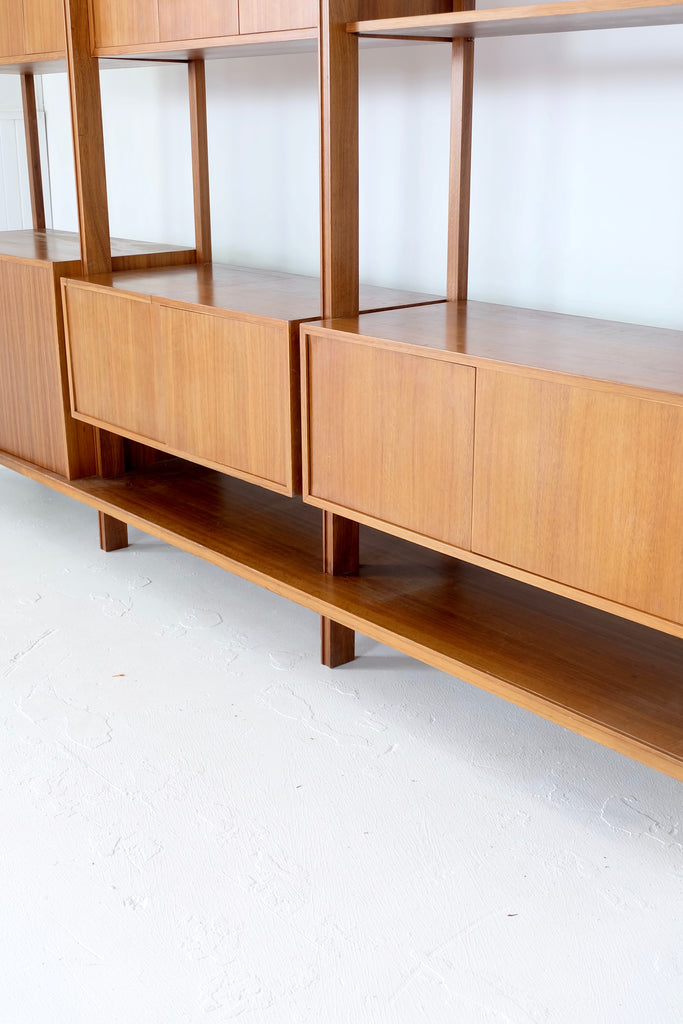 Dario Zoureff Three Bay Wall Unit in Black Bean (1901107)