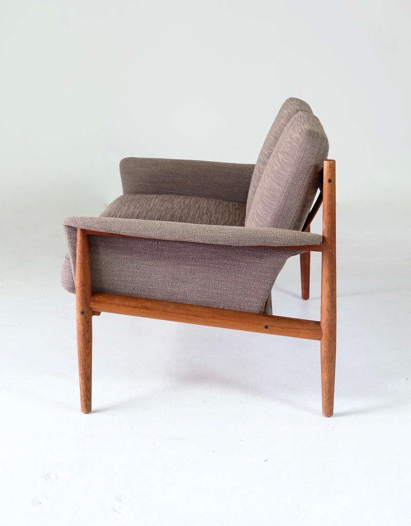 Grete Jalk Two Seater Sofa in Teak. Danish Mid-Century