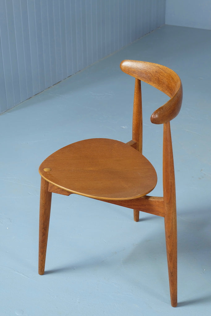 "Hans J Wegner ""Heart"" Dining Chair and Table Set (1902114)"
