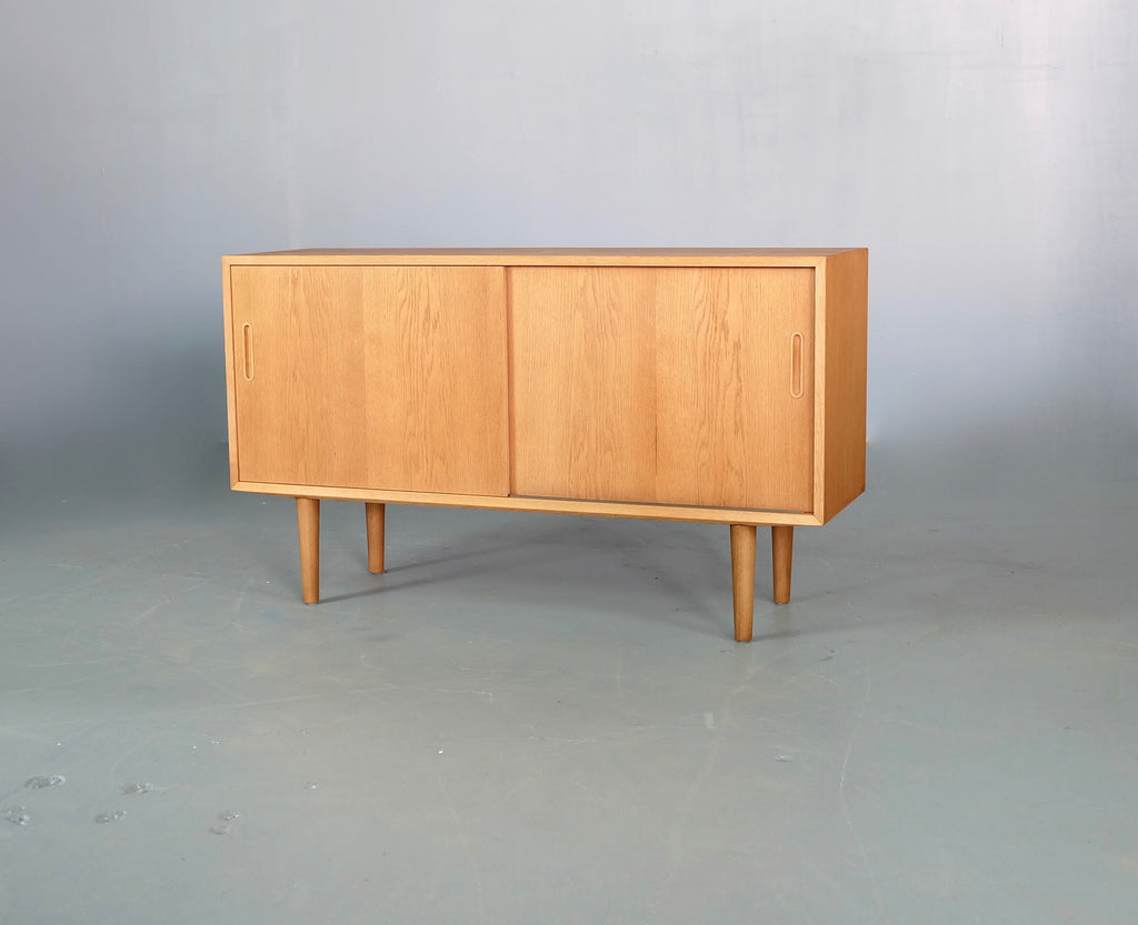 Danish Sideboard in Oak with Sliding Doors