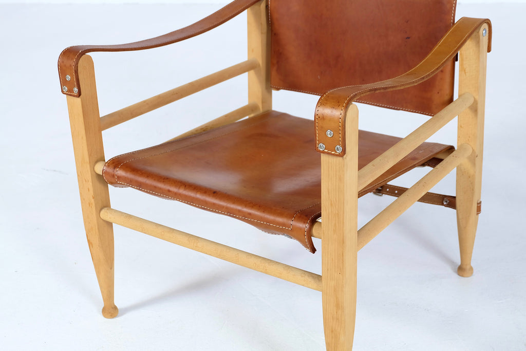Gjerløv-Knudsen Safari Chair & Footstool (1902790.1)