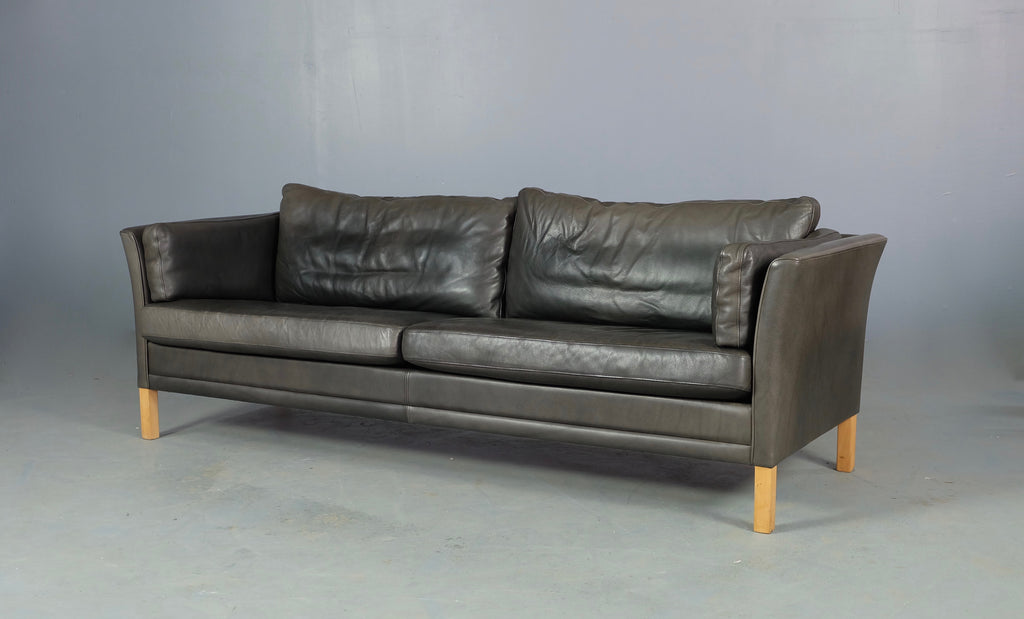 Mogens Hansen Sofa in Grey Leather (1904FJ035)