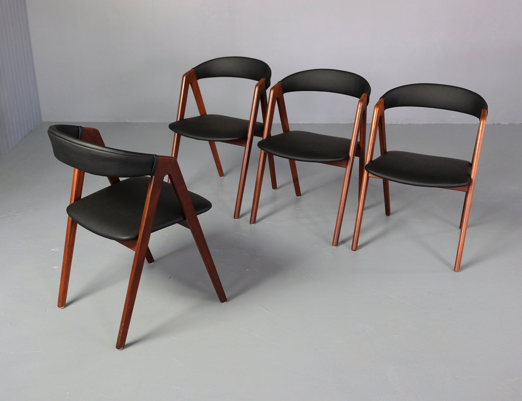 Four Danish Compass Dining Chairs (2001043)