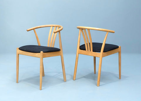 Four Danish Wishbone Dining Chairs in Oak  (2002030)