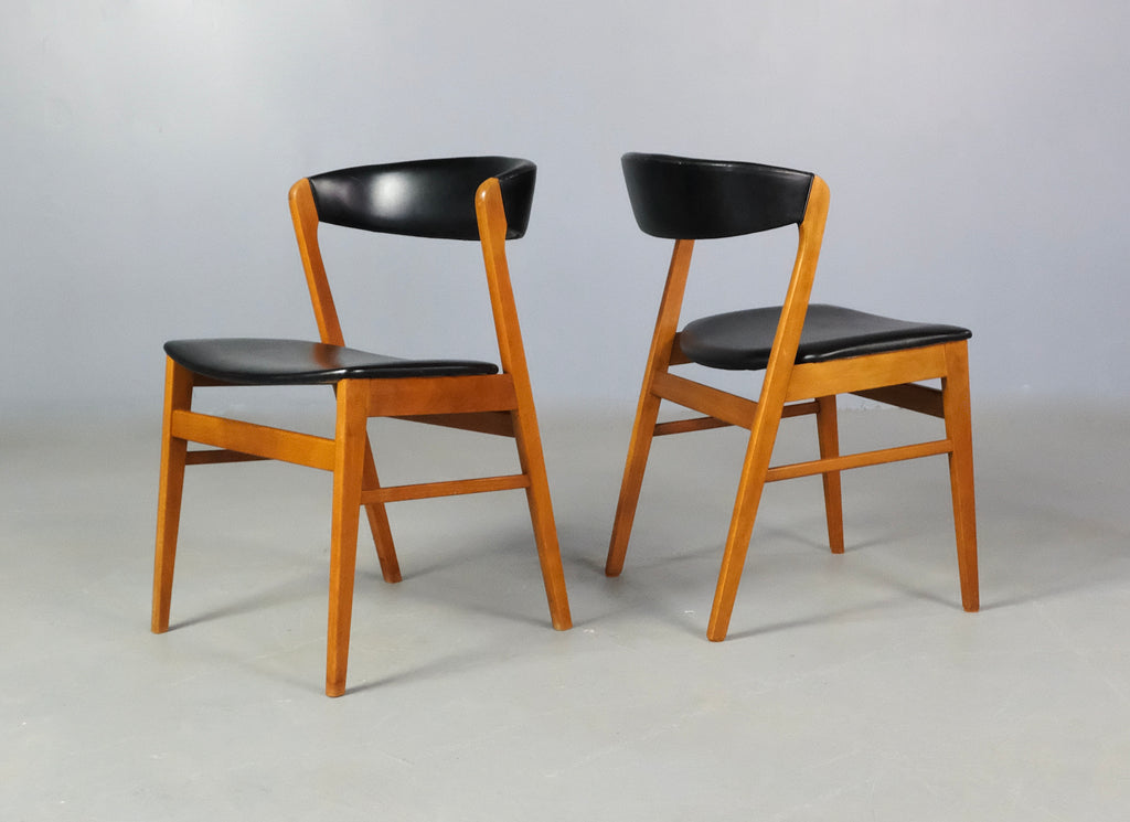 Six Danish Dining Chairs in Beech (2002145)