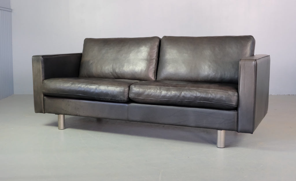 Danish Three Seater Sofa in Leather (2002152)