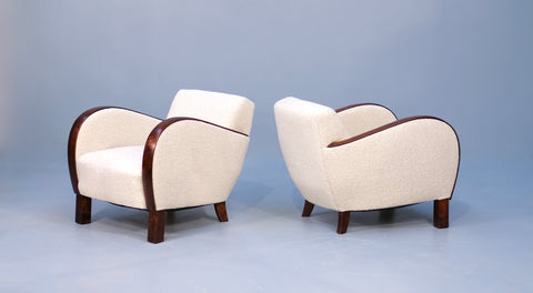 Pair of Danish Deco Chairs in New Boucle  (2002163)