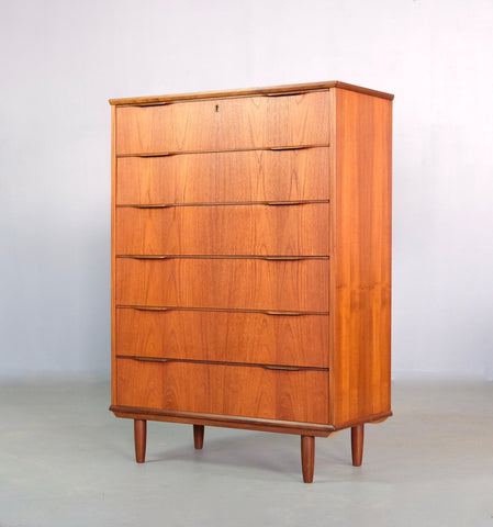 Large Danish Tallboy in Teak (2003546)