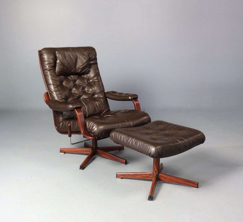 Norwegian Recliner with Footstool (2003944)