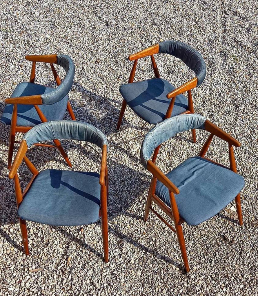 Four Teak Dining Chairs (2004022)
