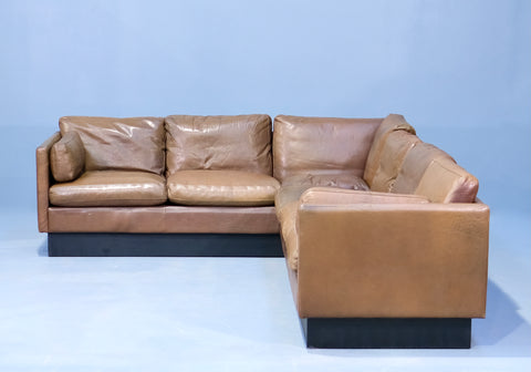 Danish Corner Sofa in Brown Leather (2004265)