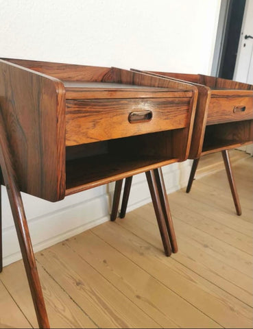 Pair Danish Bedside Tables in Rosewood (2004274)