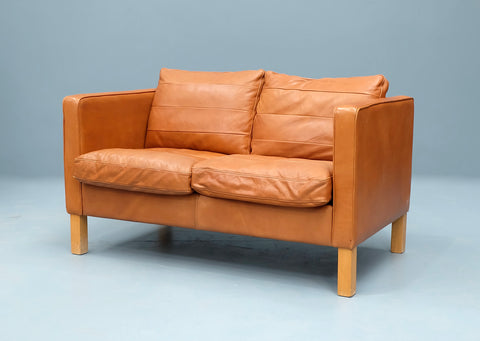 Danish Two Seater Sofa in Leather (2004295T)