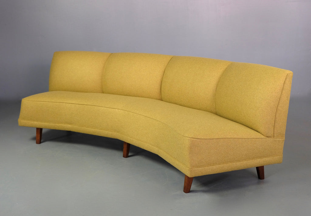 Curved Four Seater Sofa in New Wool (2004904)