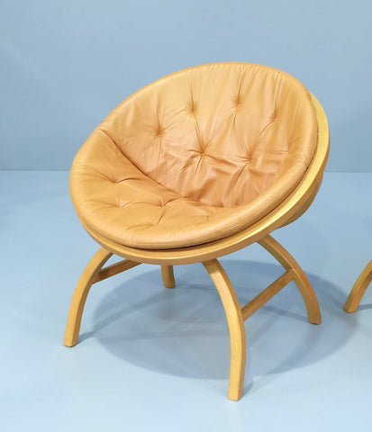 Danish Saucer Chair in Leather (2004FJ008.1)