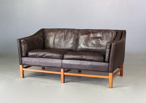 Danish Two Seater Sofa in Leather (2101914)