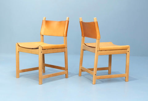 Four Kurt Østervig Dining Chairs in Oak & Leather (2101AK032.4)