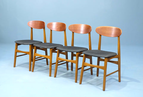 Four Spadeback Danish Dining Chairs (2101AK073)