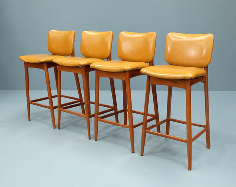 Set of Four Mid-Century Barstools (2102904)
