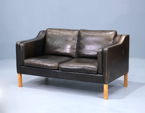 Danish Two Seater Sofa in Leather (2102953)