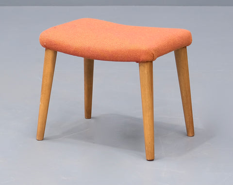 Danish Footstool in Oak and Wool (2102962)