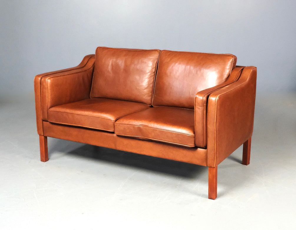 Danish Two Seater Sofa in Leather (2004204.2)