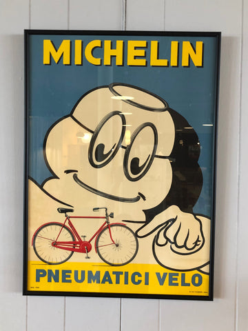 Vintage MICHELIN MAN Framed Poster  'Pneumatici Velco'