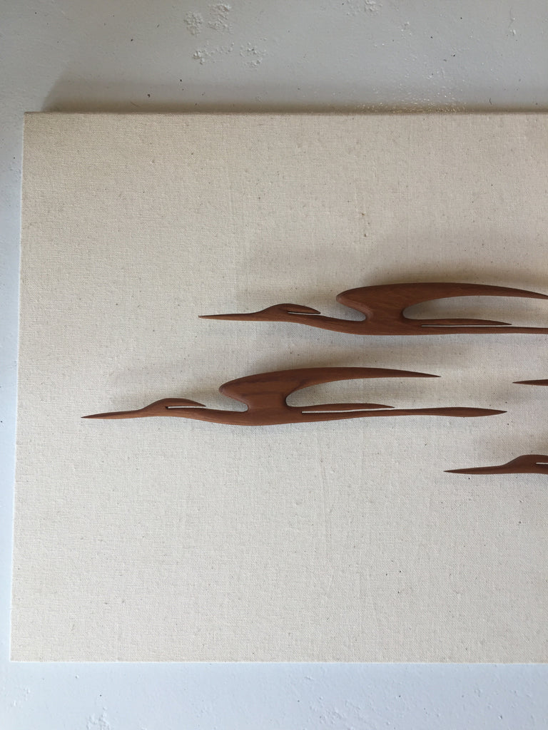 Timber Wall Birds - Set of Five Ducks (DS09)