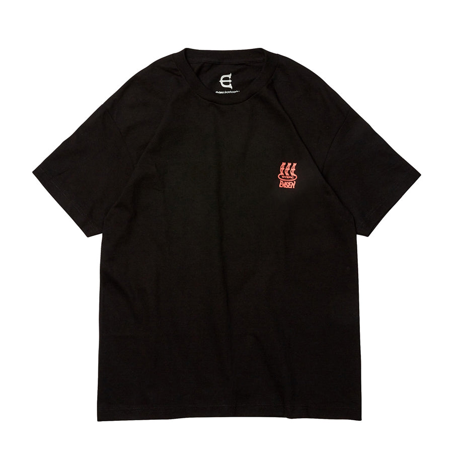 Oxford Skate Co. presents the Admatic Tee, in Black, from the Evisen Skateboards, 100% Cotton @evisenskateco, Oxford Skate Co