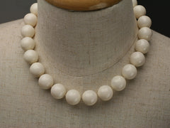 Swarovski large pearl knotted necklace: Ivory