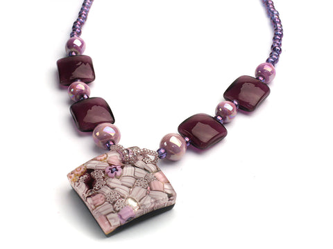 Lilac Jubilee: Murano glass necklace