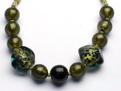 Golden Olives: Murano glass necklace