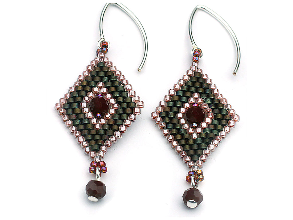 Class: Peyote stitched earrings